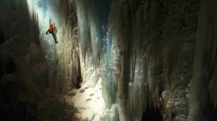 cave, climbing, ice