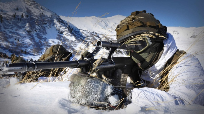 military, soldier, mountain, snow, Austrian Armed Forces