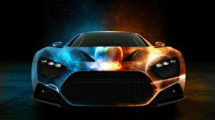 zenvo st1, orange, zenvo, blue cars, car, luxury cars