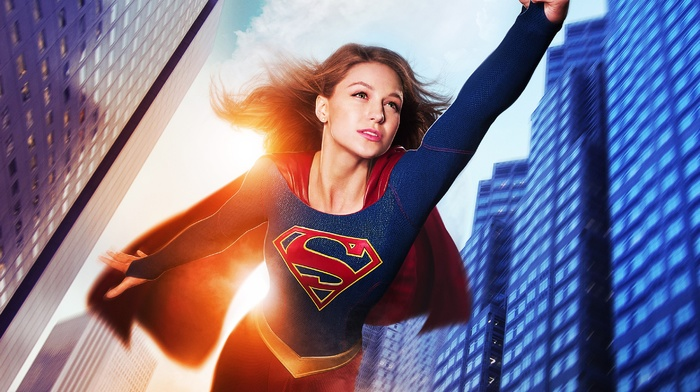 Supergirl, Melissa Benoist, TV, motion blur, comic books, DC Comics