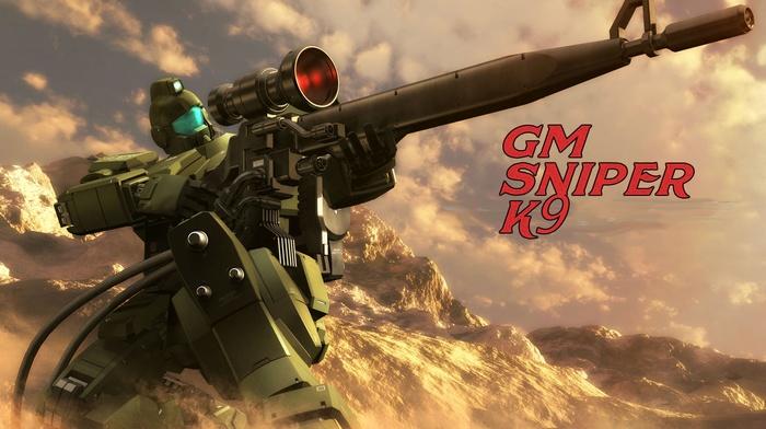Mobile Suit Gundam 0083 Stardust Memory, Mobile Suit, mech, sniper rifle