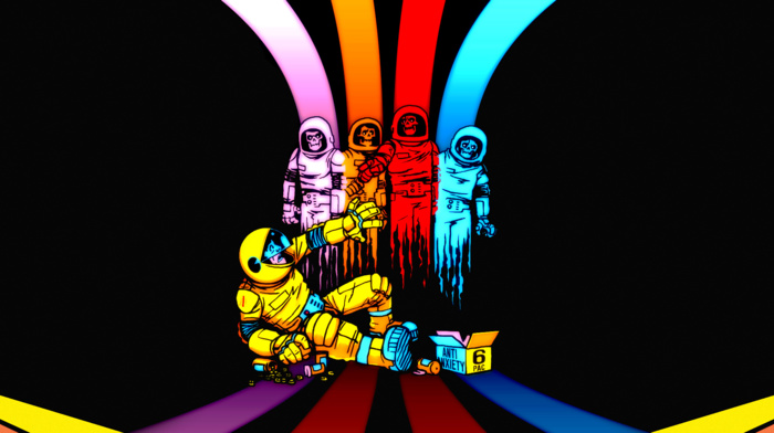 artwork, Pac, man, astronauts