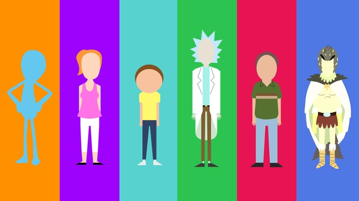 cartoon, Rick and Morty, minimalism