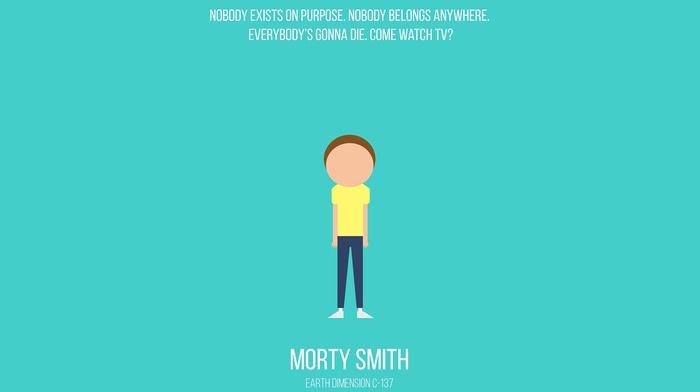 minimalism, Rick and Morty, cartoon