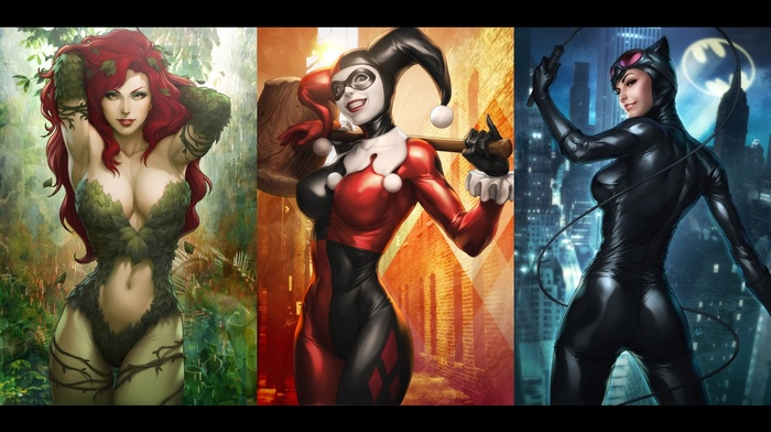 DC Comics, Poison Ivy, Harley Quinn, Catwoman