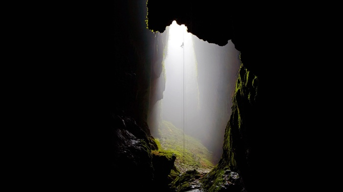 cave, climbing