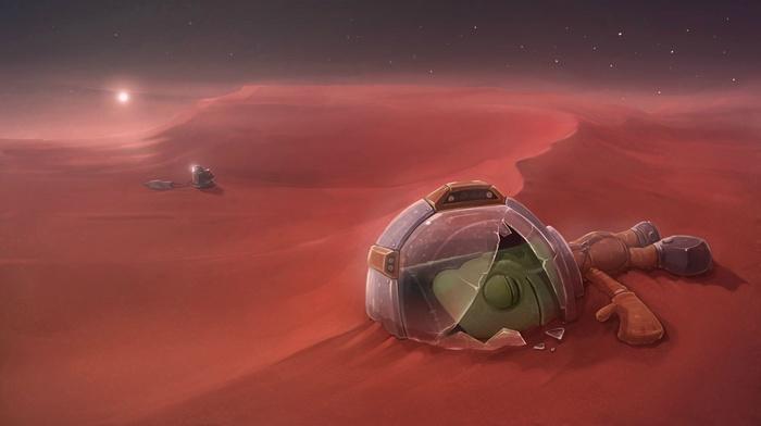 Kerbal Space Program, fantasy art, artwork, video games, space, space art