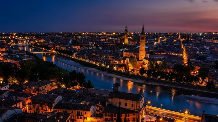 Italy, city, Verona, river