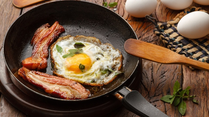 food, eggs, bacon, lunch
