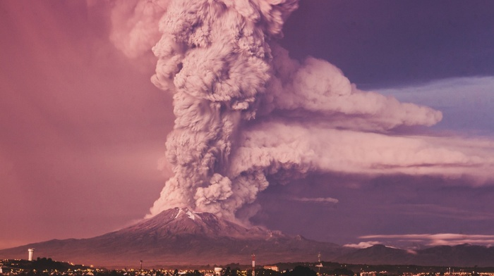 photography, volcano, volcanic eruption, nature, colorful
