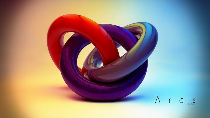 Cinema 4D, digital art, concept art, geometry, abstract