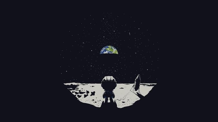 moon, space, ultrawide, Earth