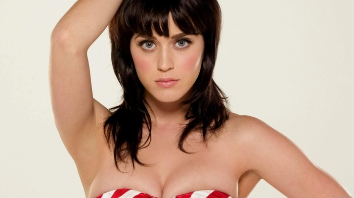 singer, Katy Perry, cleavage, brunette, big boobs
