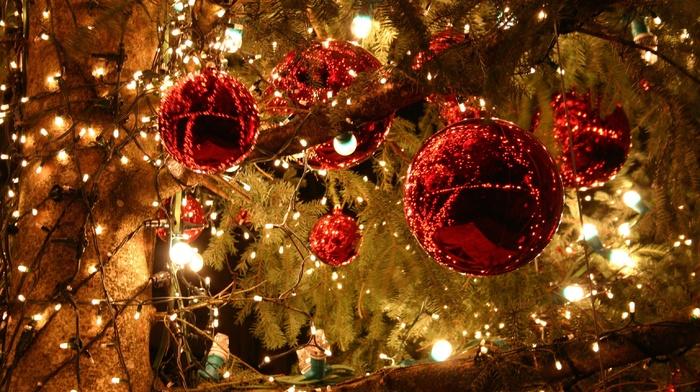 Christmas ornaments, lights