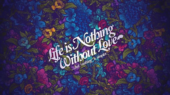 typography, text, quote, love