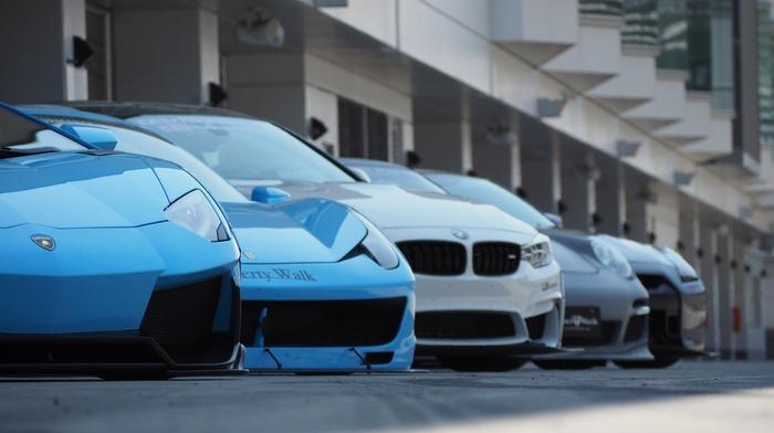 Lamborghini, Ferrari, nissan gtr, Ferrari 458 Italia, BMW, Porsche, Lamborghini Aventador, LB Performance, Nissan GT, R