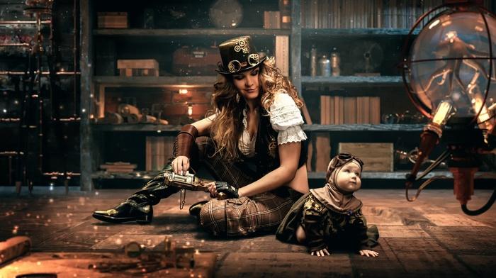 steampunk, model, girl