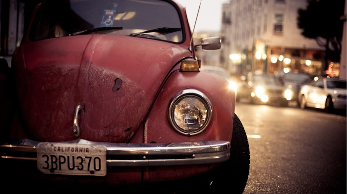 Volkswagen, urban, old car, car, Volkswagen Beetle