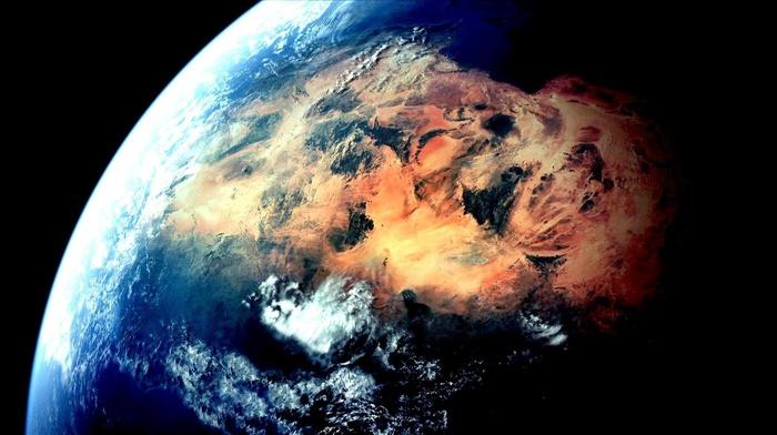 Earth, space, sky