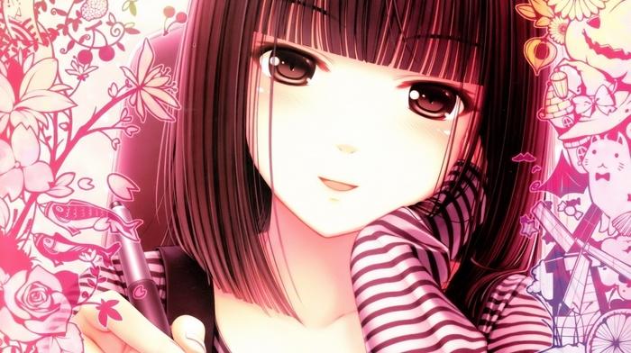 anime girls, Sayori, anime, original characters