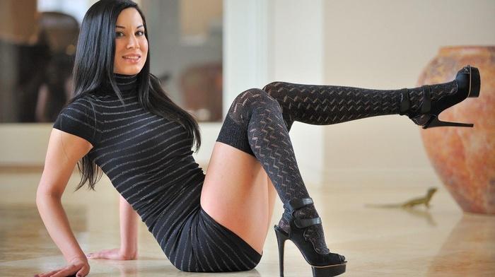 legs, Valentina, stockings, heels