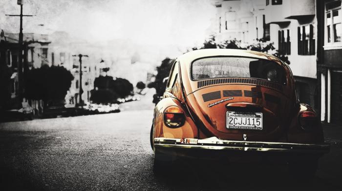 orange cars, car, california, Volkswagen, Volkswagen Beetle