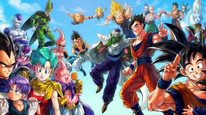 Piccolo, Yamcha, Dragon Ball Z, Gotenks, anime, Dragon Ball, Cell character, Vegeta, Majin Boo, Bulma, Son Gohan, Trunks character, Son Goku, Android 18, Vegito
