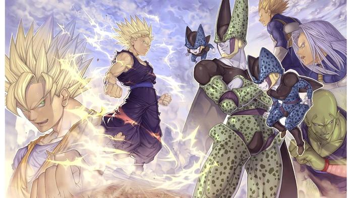 Vegeta, Piccolo, anime, Trunks character, Cell character, Dragon Ball, Son Goku, Dragon Ball Z, Son Gohan