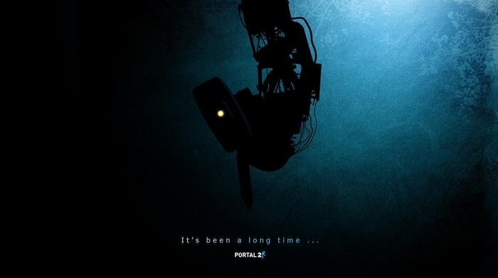 dark, Portal, black, robot, video games, GLaDOS