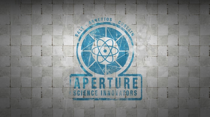 Portal, white, video games, aperture laboratories, aperture