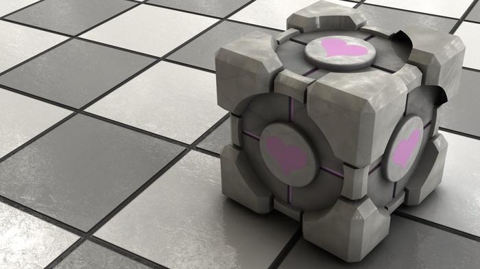 cube, Portal, video games, Companion Cube