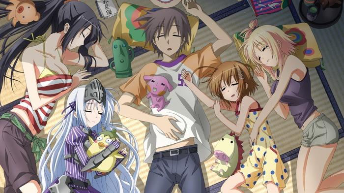 Haruna, anime girls, Aikawa Ayumu, Seraphim, Eucliwood Hellscythe, anime, Kore wa Zombie Desu ka