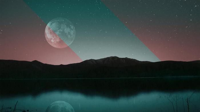moon, abstract