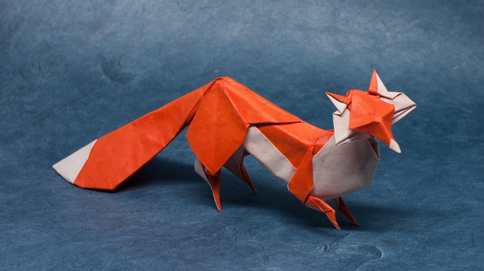 fox, artwork, nature, paper, origami, the little prince, animals, simple background