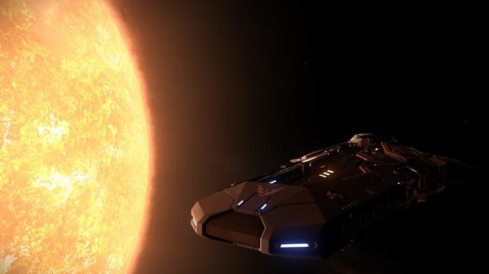 Elite Dangerous, science fiction, space, Sun, video games