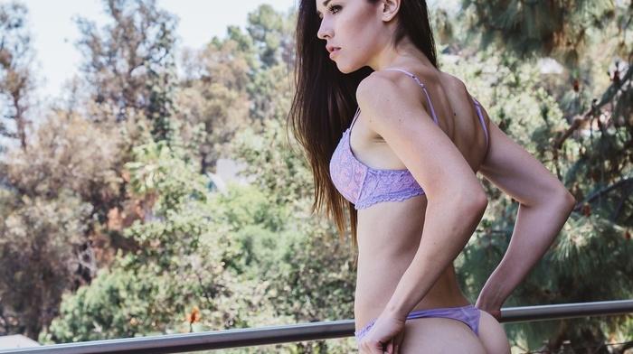 Pants down, lingerie, ass, pants, girl, looking away, Audrey Bradford