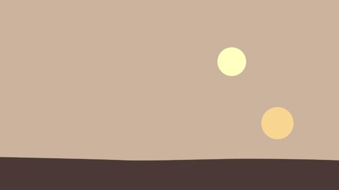 Tatooine, minimalism, suns, desert, Star Wars