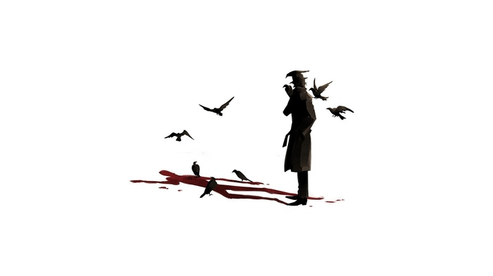crow, blood