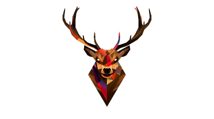 Justin Maller, artwork, deer, simple background
