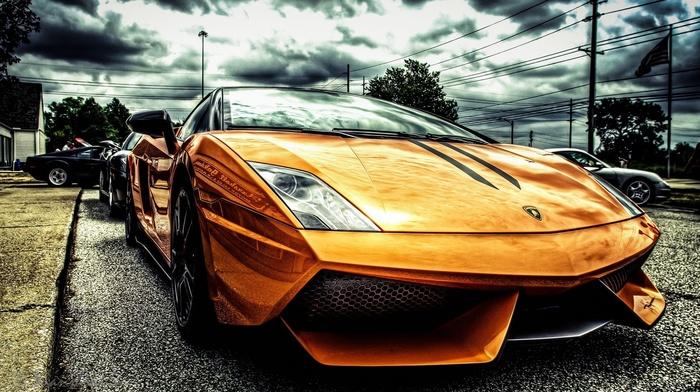 orange, filter, Lamborghini