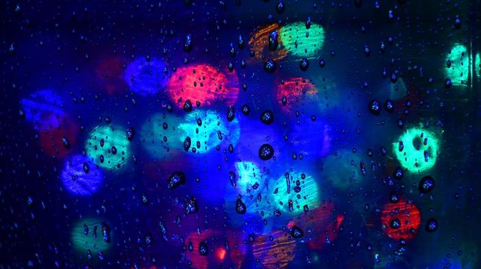 rain, bokeh