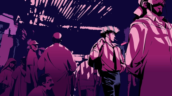 anime, Cowboy Bebop, smoking, Spike Spiegel