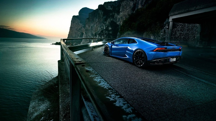 vehicle, blue cars, Lamborghini Huracan, Lamborghini