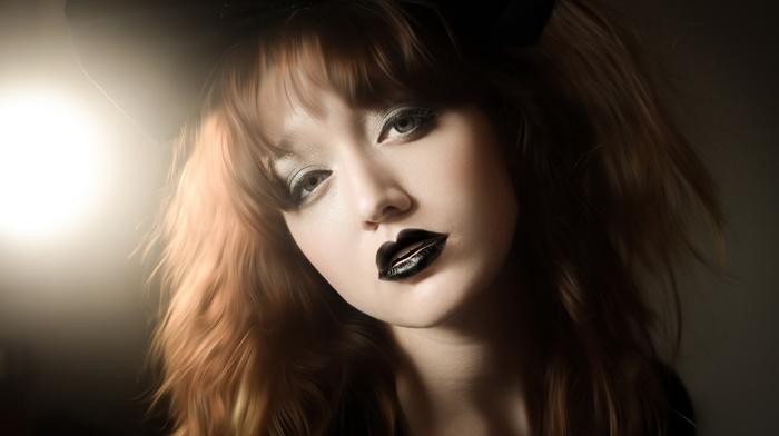 girl, makeup, model, portrait