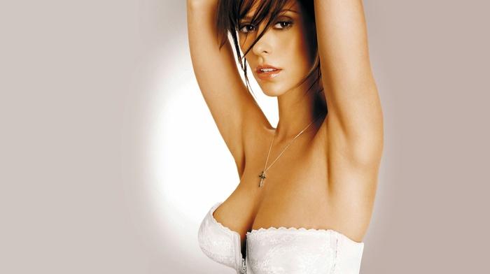 simple background, cleavage, armpits, corsets, Jennifer Love Hewitt