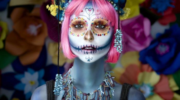model, face, girl, makeup