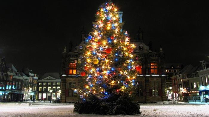 Christmas, Christmas ornaments, fir, tree