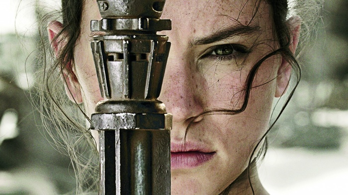 actress, Star Wars, long hair, green eyes, face, girl, Daisy Ridley, looking at viewer, Star Wars Episode VII, The Force Awakens, brunette, depth of field