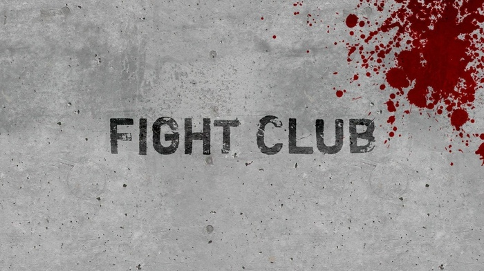 fight club, grunge, blood, typography, movies