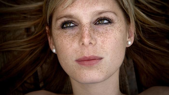 freckles, eyes, girl, face